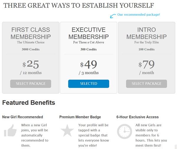 upgrade page of establishedmen.com